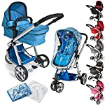 TecTake 3 in 1 Pushchair stroller combi stroller buggy baby jogger travel buggy kid's stroller -different colours-
