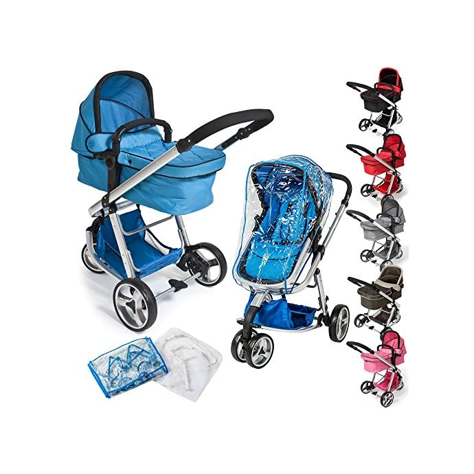 Tectake 3 In 1 Pushchair Stroller Combi Stroller Buggy Baby Jogger Travel Buggy Kid S Stroller Different Colours