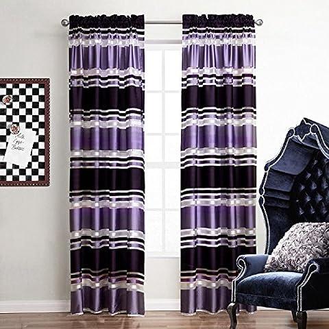 YYH Polyester imprimé rayures rideaux des rideaux pour chambre à coucher porte panneau de mur-rideau (ensemble de 2 panneaux) , 140x240cm