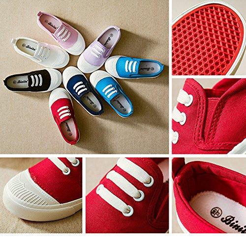 Menina Meninos Unissex Yuhuawyh Branca Crianças Sapatos Tênis Lona xCBq4fR