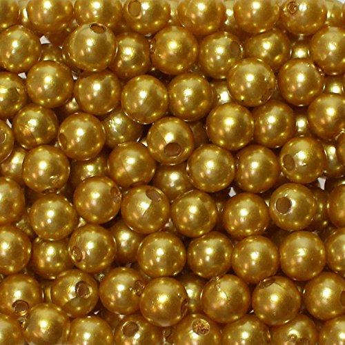 Set von künstlichen Perlen, 8mm, mit Loch, 250Stück