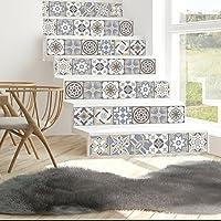 Walplus Adhesivos de pared extraíble Autoadhesivo Arte Mural VINILO DECORACIÓN HOGAR BRICOLAJE Living Cocina Dormitorio Decor papel pintado regalo Limestone ESPAÑOL Azulejos - 15cm x 15cm-24 piezas