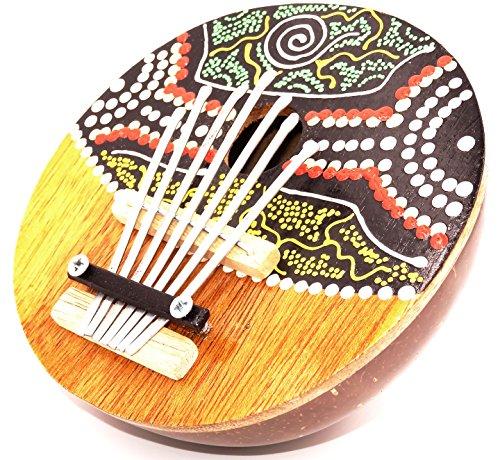 Karimba, Kalimba, Gitarre, Daumenklavier, Sanza Coco, Musikinstrument, bemalt, Fingerklavier, Kalimba, aus Kokosnuss, handgefertigt