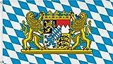 normani Deutschland Flagge Großformat 250 x 150 cm wetterfest Fahne Farbe Bayern