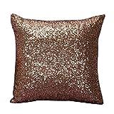 HUYURI Einfarbig Glitzer Pailletten Dekoration Kissenbezug Dekokissen Covers Home Sofa Dekor Kissenbezüge