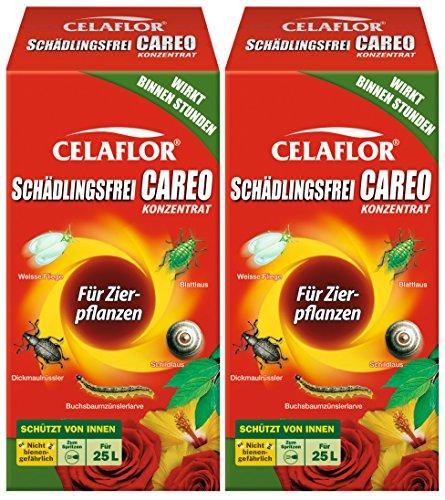 Celaflor Schädlingsfrei Careo Konzentrat Zierpflanze, Vollsystemisches Mittel mit schneller und breiter Wirkung gegen Blattläus, Zikaden, Weiße Fliege,...
