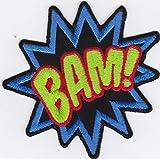 Ecusson brodé Ecussons Imprimés Ecussons Thermocollants iron-on Patch Comic Cartoon Bulle Bédé (BAM)