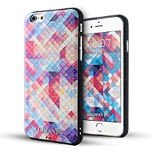 iPhone 6 Funda,iPhone 6s Funda,Lizimandu 3D Patrón Protectiva Carcasa de Silicona Gel TPU estrecha Case Cover Para Apple iPhone 6/6s(Colorful Estopa/Colorful Pizzle)