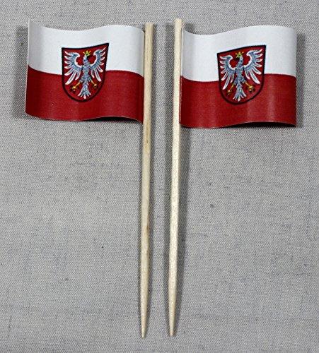Party-Picker Flagge Frankfurt am Main Papierfähnchen in Spitzenqualität 50 Stück Beutel (Halloween-frankfurt Main Am)