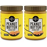 The Butternut Co. Peanut Butter Unsweetened Crunchy, 1 Kg (Pack of 2)