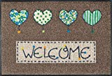 wash + dry 060147 Fußmatte Welcome Hearts 50 x 75 cm