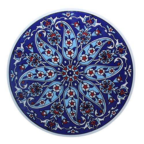 Turkceramics Round Coaster (Multicolor, OMRC16C-MIX3)