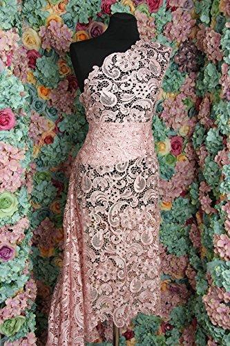 G33Blush Pink Guipure-Spitze Bridal Spitze 120cm wide-sold von 1/2yard
