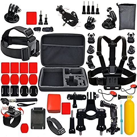 Sports de plein air Essentials Action Camera Kit for SJ4000 SJ5000 Xiaoyi GoPro Hero 4 3 + 3 2 1 en parachutisme surf plongée aviron exécutant vélo Camping