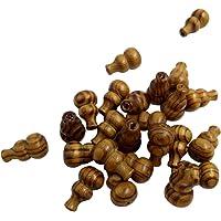 25 Pezzi Calabash Forma Braneli di Legno Perline Accessori per Fabbricazione Gioielli Monili
