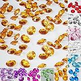 TtS 100 Stk 10mm Deko Diamanten Dekosteine Acryl Kristalle Streuteile Tischdeko Hochzeit -Kaffee