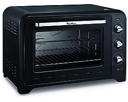 MOULINEX FOUR ELECTRIQUE A CONVECTION OPTIMO 60L Noir 7 Modes de Cuisson pain pizza tartes gateaux patisseries YY2917FB