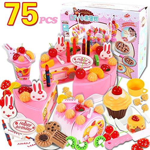 Kind Kleinkind Geburtstagstorte Kinder Rollenspiele Kaufläden Zubehör Küchenspielzeug Kreatives Spielzeug Geschenk zum Geburtstag Weihnachten (Weißer Kostüm Wal)