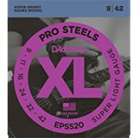 D'Addario EPS520 - Juego de cuerdas para guitarra eléctrica de acero, 009' - 042'