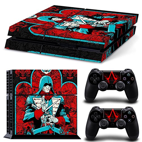 GameCheers PS4 Konsole and DualShock 4 Controller Skin Set - Assasin Videogame - PlayStation 4 Vinyl