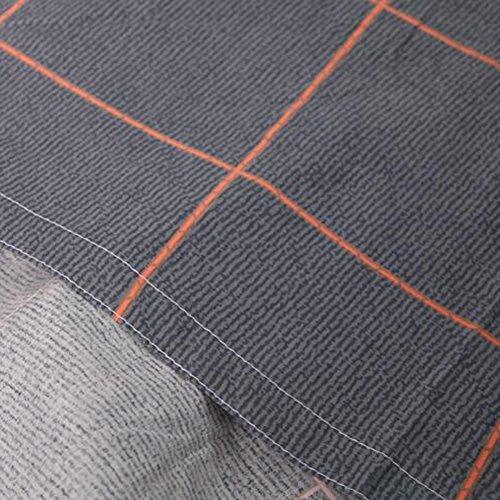 Hello Set Kitty Twin Sheet (memorecool Haustierhaus Kissenbezüge 1Stück Check grau einfachen Stil 100% Baumwolle twilled 48,3x 73,7cm, baumwolle, flat sheet, Volle Größe)