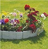10 Stück Rasenkante Gartenzaun Zierzaun aus Kunststoff in Stein-Optik Rasenrand Fechten Dekoration, 24cmx13cm