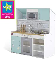 Plum UK Peppermint Townhouse 2 In 1 Dolls House and Kitchen Play Set