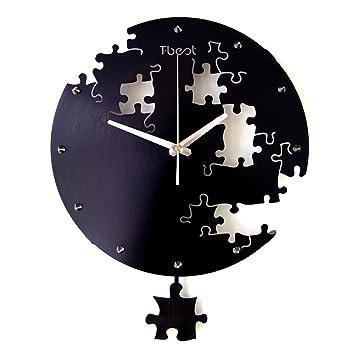 2017 Neue Wanduhr Wohnzimmer Titan Silber Legierung (Luftfahrt Metall)  Moderne Einfache Stille Kreative Uhr Puzzle Mode Kunst Büro Uhr Quarz Uhr  Hängenden ...