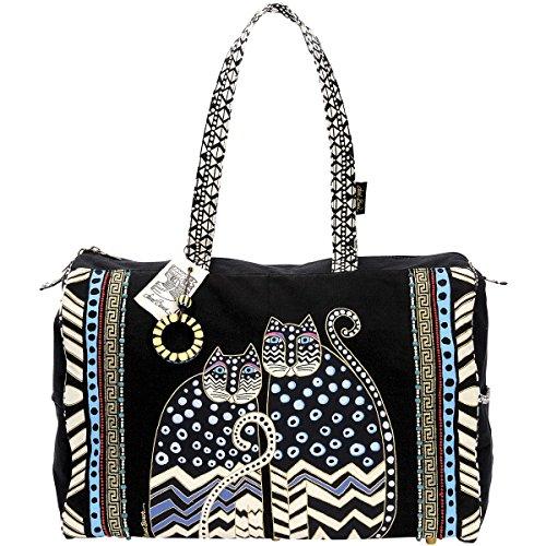 laurel-burch-21-x-8-x-14-inch-spotted-cats-travel-bag-zipper-top