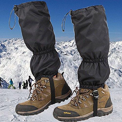 JTENG Outdoor gamaschen wasserdichte Gamaschen Gaiter für Outdoor-Hosen zum Wandern, Klettern und Schneewandern wandernde gehende kletternde Jagd-Schnee Legging Gamaschen 1 Paar