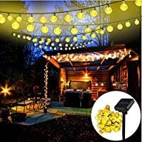 Mr.Twinklelight® Solar String Lights | 42 LED 18.7Ft Outdoor Waterproof Solar-Powered Crystal Ball Decorative Lights for Garden | Wedding | Yard | Home | Christmas | Party etc (Warm White)