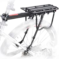 UDee Aluminum Alloy Adjustable Bicycle Rear Rack 110 Lbs Capacity