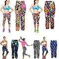 Culater® Frauen Damen hohe Taille schlank Bunt Yoga Laufhose dünne Fitness Leggings