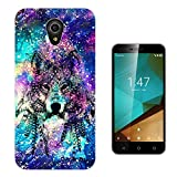 003531 - Cool Wolf Abstract Universe Design Vodafone Smart