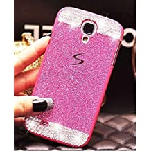 Funda para Samsung Galaxy S5,ZXK CO Funda Lujoso Bling Diamante con Crystal Rhinestone Vibrant Trendy Color Slider Style Duro PC Carcasa para Samsung Galaxy S5 -Rosa