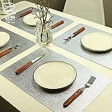 jellbaby Set von 4 Tischsets Dinner Esstisch Platzdeckchen Geschirr