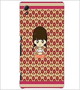 PrintDhaba Cartoon Girl D-2661 Back Case Cover for SONY XPERIA Z4 (Multi-Coloured)