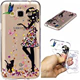 Galaxy J3 (2016) Coque, Samsung J320F Housse, Samsung Galaxy J3 (2016) J320F Etui,BONROY® Drôles motifs peints mignons Ultra-Mince Thin Soft Silicone Etui de Protection pour Souple Gel TPU Bumper Poussiere Resistance Anti-Scratch Case Cover Couverture Pour Samsung Galaxy J3 (2016) J320F