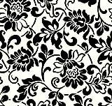 Fablon - Foglio adesivo decorativo, 45cmx15m, colore: Bianco/Nero