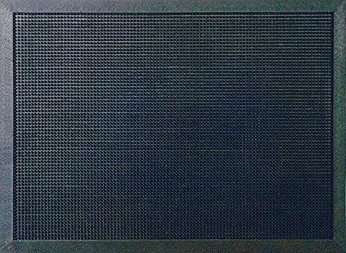 ID m52_l Mate, Puntos Light-Felpudo Caucho, Negro, 100 x 80 x 1,6 cm