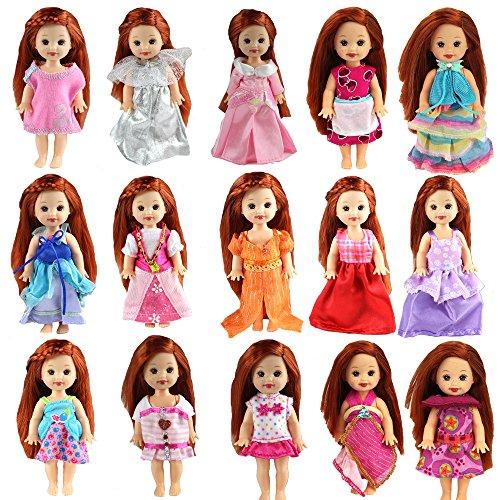 Miunana Abiti Vestiti Scarpe E Accessori Per Bambola Barbie Dolls, KEN Dolls E Kelly Dolls (6 Vestiti Per Kelly Dolls)