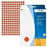 Herma 2212 Vielzwecketiketten bunt, rund (Ø 8 mm) rot, 5.632 Klebepunkte, 32 Blatt, Papier, selbstklebend