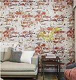 Weaeo Vintage Industrial Wind Backstein Tapete Wasserdicht Wand Hintergrund Für Wohnzimmer Pvc Wand Papierrolle Stereoskopische 10 M E