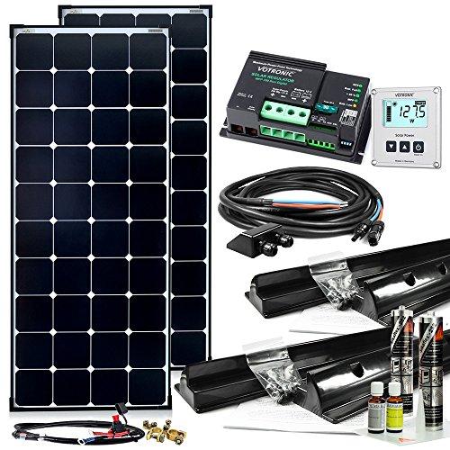 Offgridtec© 300W MPPT 12V Wohnmobil Komplettset EBL-Option mit Hochleistungspanels MPPT Regler und Installationsmaterial