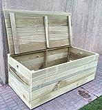 Holztruhe / Sitzbank, Holz behandelt für den Außenbereich.Vollständig montiert. 60x30x30 cm