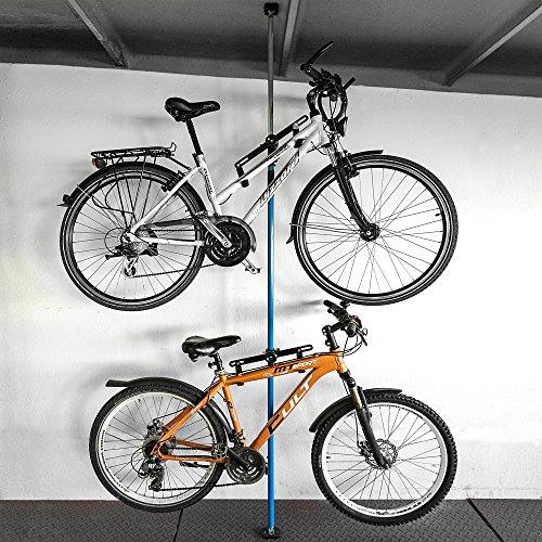 Fahrradaufhängung Fahrradwandhalterung Fahrrad Halterung Fahrradmontageständer 1 Stück (Weiß, 1 Halterung inkl. Befestigungsstange 160cm - 290cm)