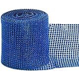 Bluelans® 12cm x 1 Yard Diamond Diamante Rhinstone Effect Mesh Ribbon Wrap for Home Party Wedding Decoration