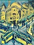 Posterlounge Leinwandbild 60 x 80 cm: Nollendorfplatz von Ernst Ludwig Kirchner/akg-Images - fertiges Wandbild, Bild auf Keilrahmen, Fertigbild auf Echter Leinwand, Leinwanddruck