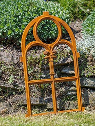 Nostalgie Stallfenster 46 x 74cm Fenster Gusseisen Rahmen rostig Antik-Stil