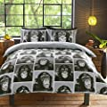 Cheeky Monkey Monochrome black and white Bedding Sets Duvet Cover & pillow Case set - inexpensive UK light store.